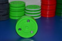 Puk na trénink stickhandlingu a přihrávek - Green Biscuit